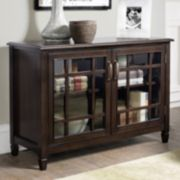 Simpli Home Connaught Low Storage Cabinet