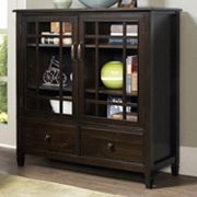 Simpli Home Connaught Tall Storage Cabinet