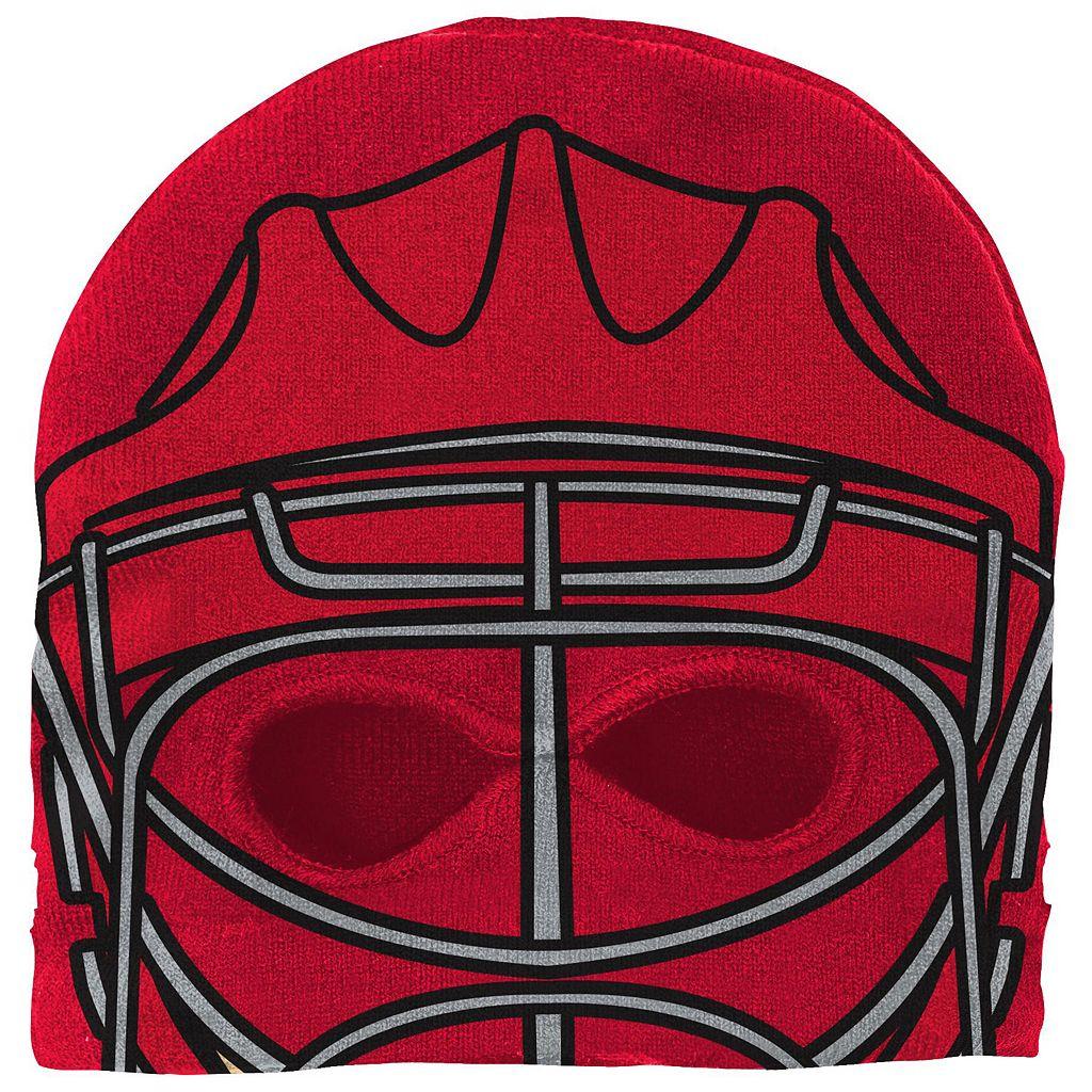 Youth Reebok Chicago Blackhawks Mask Knit Cap