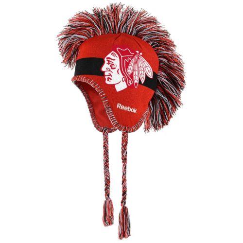 Youth Reebok Chicago Blackhawks Mohawk Knit Cap