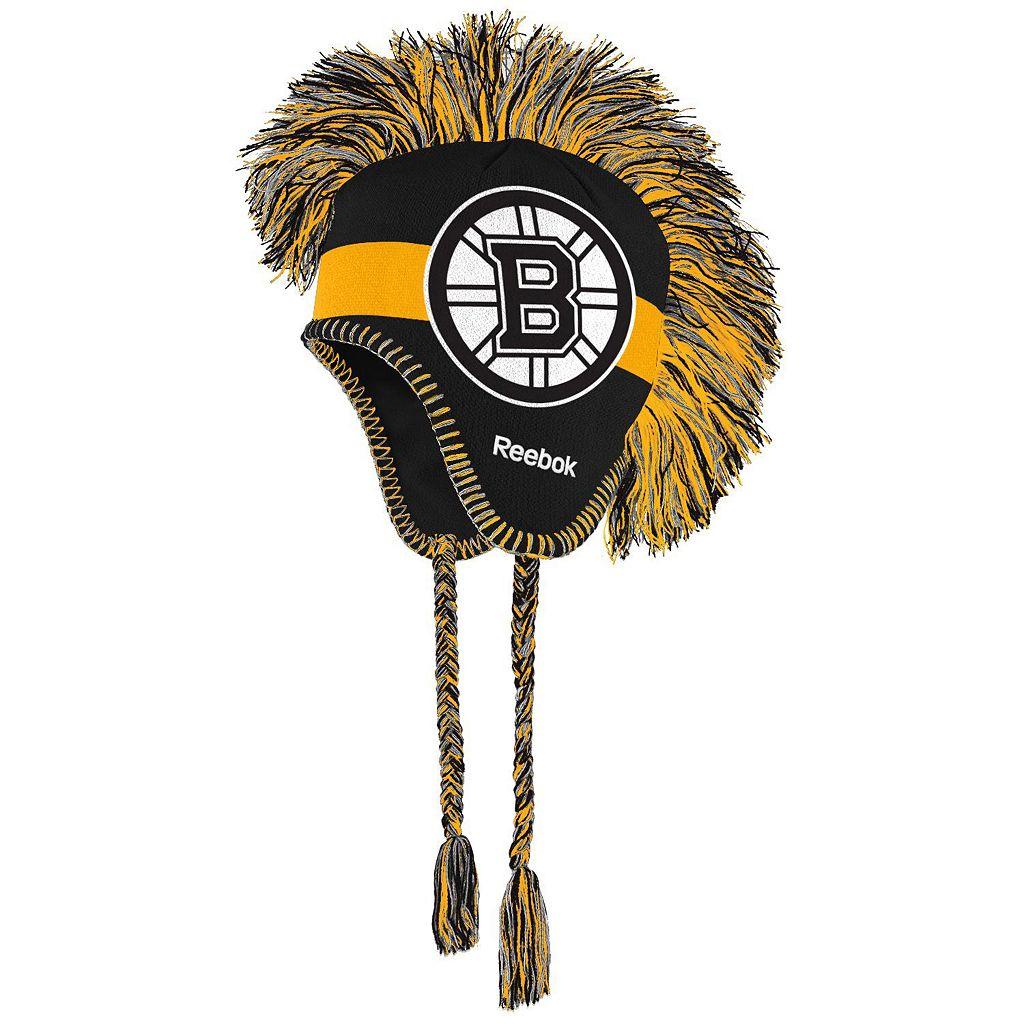 Youth Reebok Boston Bruins Mohawk Knit Cap