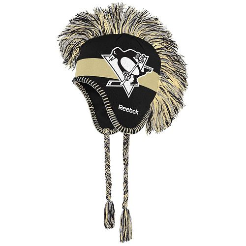 Youth Reebok Pittsburgh Penguins Mohawk Knit Cap