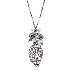 Mudd® Leaf Pendant Necklace