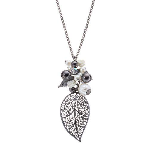 Mudd® Leaf Pendant Necklace