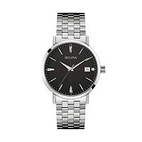 Bulova Men's Classic Stainless Steel Watch - 96B244
