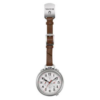 Bulova Men's Leather Chronograph Pocket Watch - 96B249