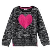 Design 365 Girls 4-6x Marled High-Low Sweater