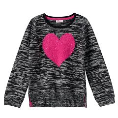 Design 365 Girls 4-6x Marled High-Low Sweater