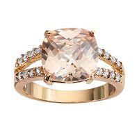 CITY ROX Gold Tone Cubic Zirconia Ring