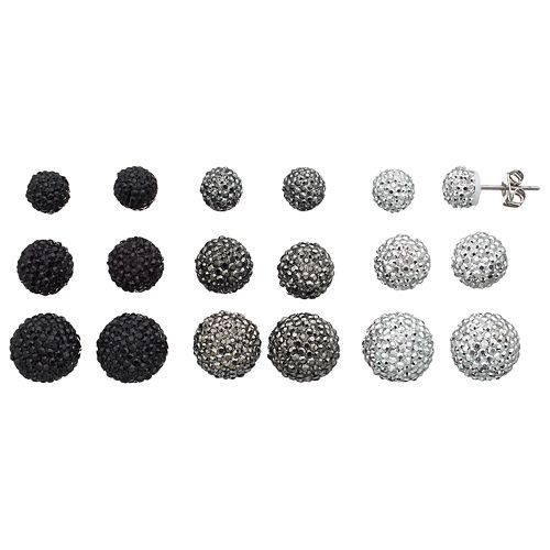 Mudd® Dome Stud Earring Set