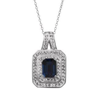 Sterling 'N' Ice Crystal Sterling Silver Tiered Pendant Necklace - Made with Swarovski Crystals