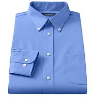 Big & Tall Croft & Barrow® Solid Easy Care Button-Down Collar Dress Shirt