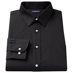 Men's Croft & Barrow® Fitted Solid Easy Care Spread-Collar Dress Shirt