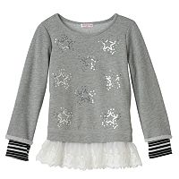 Design 365 Girls 4-6x Mock-Layer Lace Tunic