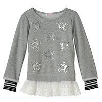 Design 365 Girls 4-6x Mock-Layer Lace Tunic