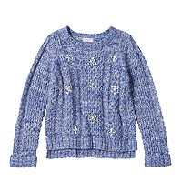 Design 365 Toddler Girl High-Low Cable Knit Sweater
