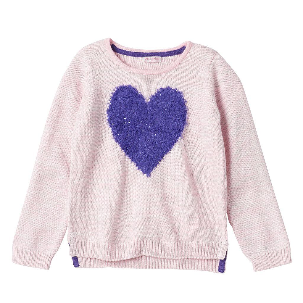 Design 365 Toddler Girl Marled High-Low Sweater