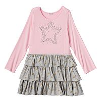 Design 365 Toddler Girl Tiered Star Dress