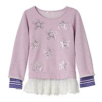 Design 365 Toddler Girl Mock-Layer Lace Tunic