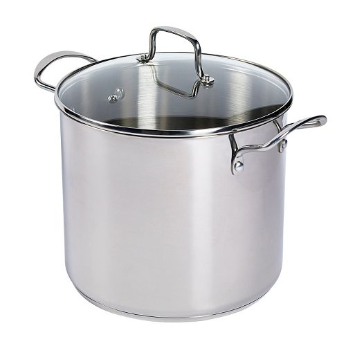 Basic Essentials 12-qt. Stainless Steel Stock Pot
