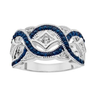 Crystal Luxuries Silver-Plated Woven Ring