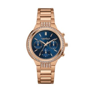 Caravelle New York by Bulova Women's Crystal Stainless Steel Chronograph Watch - 44L181