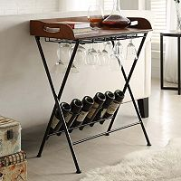 Carolina Forge Sonoma Wine Tray Stand