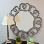 Carolina Forge Audrey Round Wall Mirror