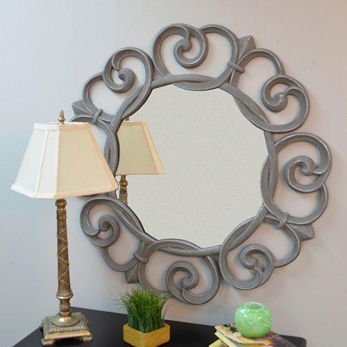 Carolina Forge Audrey Round Wall Mirror