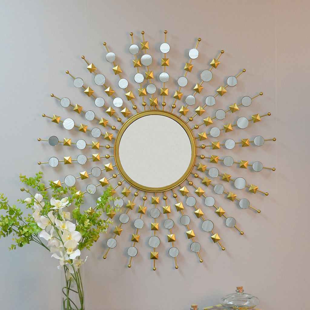 Carolina Forge Payton Round Wall Mirror