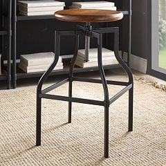 Carolina Forge Alston Wood Adjustable Stool