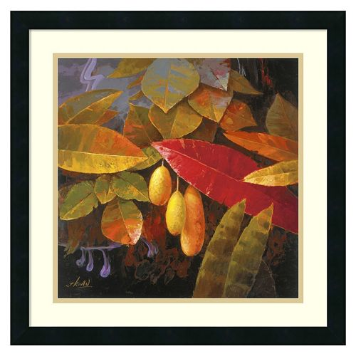 ''Tropical Leaves I'' Framed Wall Art