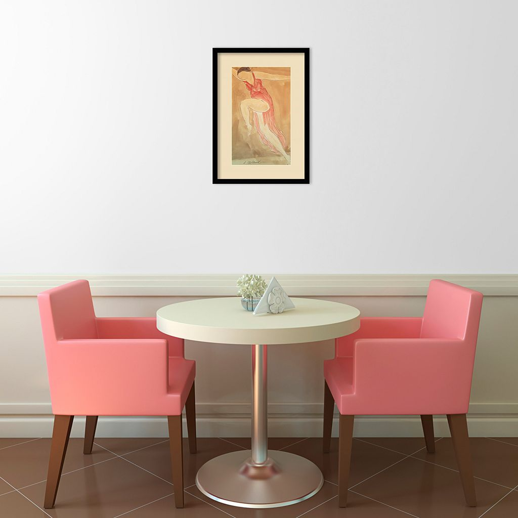 ''Woman in Red Dancing, 1919'' Framed Wall Art