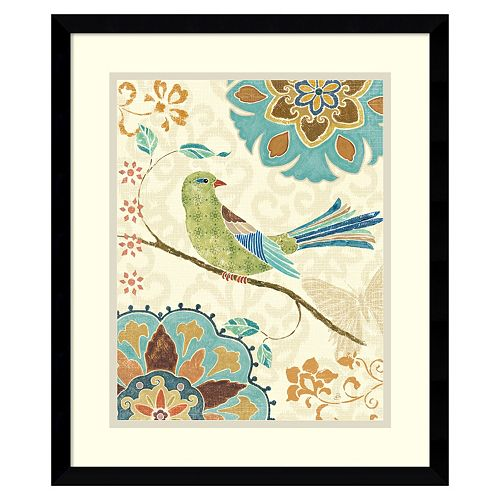 ''Eastern Tales Birds II'' Framed Wall Art