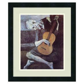 ''The Old Guitarist, 1903'' Framed Wall Art by Pablo Picasso