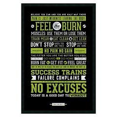 ''Gym'' Motivational Framed Wall Art