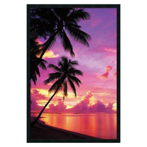 ''Tahitian Sunset'' Framed Wal...