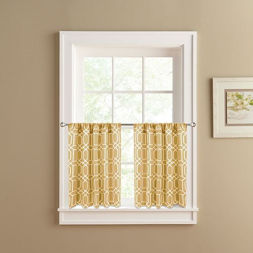 Colordrift Penny Tier Kitchen Window Curtain Set