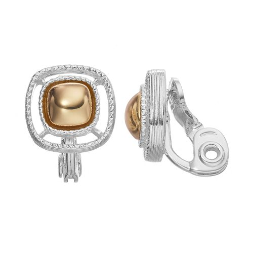 Napier Clip-On Button Stud Earrings