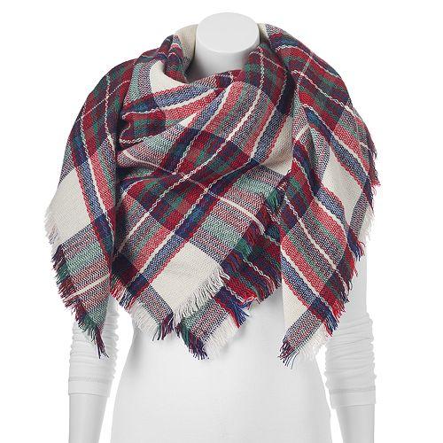 Apt. 9® Fringe Plaid Blanket Scarf