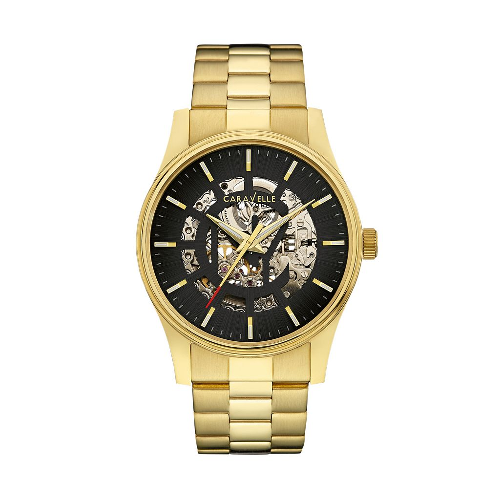 Caravelle New York by Bulova Men's Stainless Steel Automatic Skeleton Watch - 44A107K