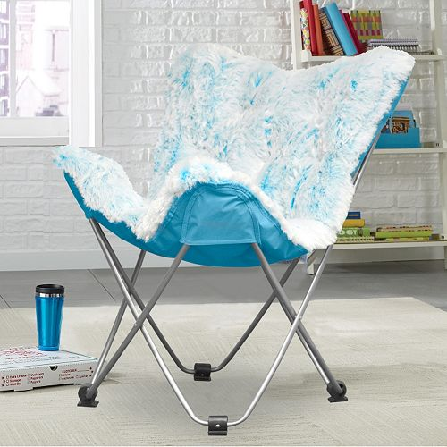 Incredible Urban Shop Faux Fur Frosted Butterfly Chair Theyellowbook Wood Chair Design Ideas Theyellowbookinfo