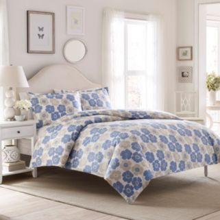 Laura Ashley Lifestyles Poppy Bloom Flannel Duvet Cover Set
