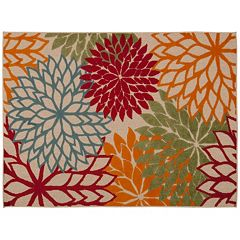 Nourison Aloha Large Dahlia Indoor Outdoor Rug