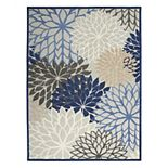 Nourison Aloha Dahlia Tropical Outdoor Rug