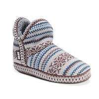 MUK LUKS Amira Women's Knit Bootie Slippers