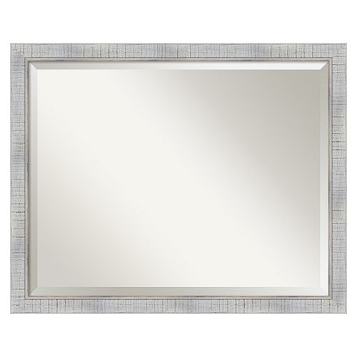 Sonoma Whitewash Beveled Wall Mirror