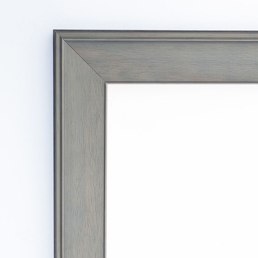 Graywash Beveled Wall Mirror