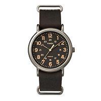 Timex Men's Weekender Leather Watch - TW2P85800JT