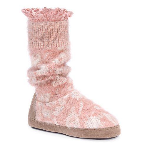 MUK LUKS Vanessa Vintage Women's Bootie Slippers